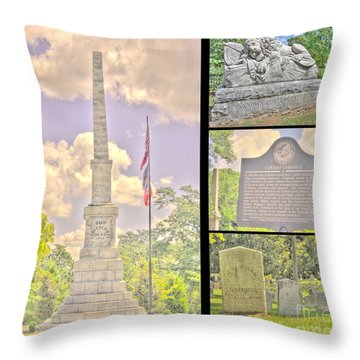 Oakland Cemetery Collage Throw Pillow