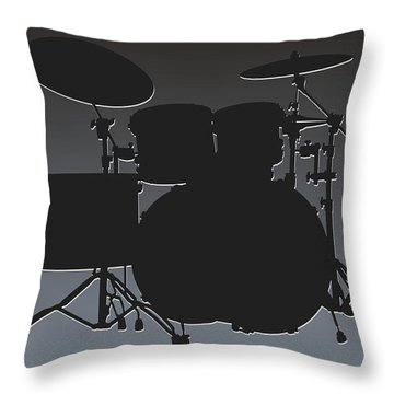 Oakland Raiders Drum Set Throw Pillow by Joe Hamilton