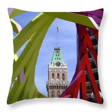 Oakland Tribune Throw Pillow
