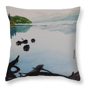 Oakridge Reservoir #1 Throw Pillow by Dawna Morton