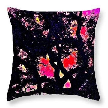 Oaks 10 Throw Pillow by Pamela Cooper
