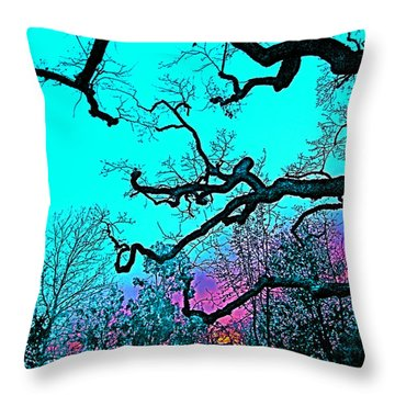 Oaks 4 Throw Pillow