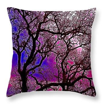 Oaks 6 Throw Pillow by Pamela Cooper