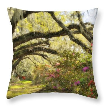 Oaks And Azaleas Throw Pillow