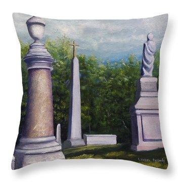 Oakwood Cemetery Jefferson Texas Throw Pillow
