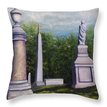 Oakwood Cemetery Jefferson Texas Throw Pillow