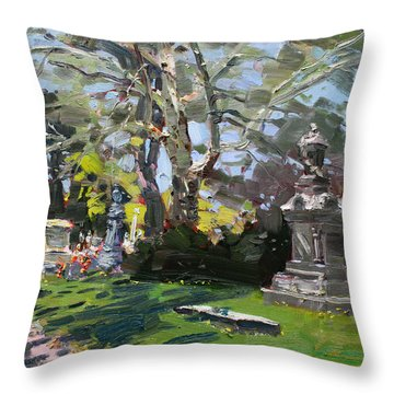 Oakwood Cemetery Throw Pillow