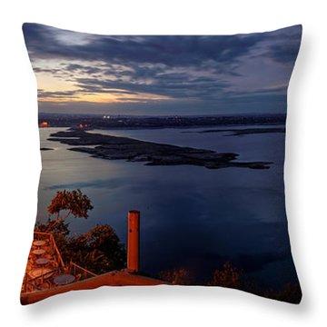 Oasis On Lake Travis Panorama Austin Texas Throw Pillow