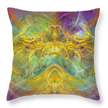 Obeisance To Nature - Spiritual Abstract Art Throw Pillow