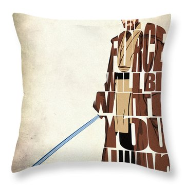 Obi-wan Kenobi - Ewan Mcgregor Throw Pillow