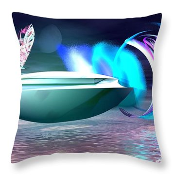 Throw Pillow featuring the digital art Objects Of Light by Jacqueline Lloyd