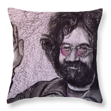 Obligedly Deceased Throw Pillow by Eric Dee