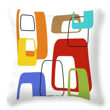 Oblongs On White 4 Throw Pillow