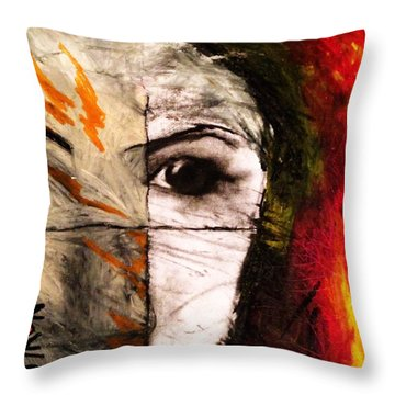 Obscure Throw Pillow by Helen Syron