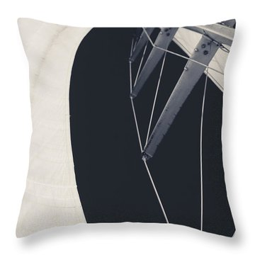Obsession Sails 9 Black And White Throw Pillow