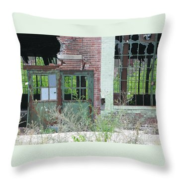 Throw Pillow featuring the photograph Obsolete by Ann Horn