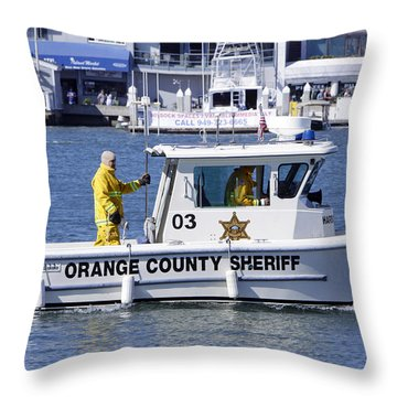 Oc Sheriff Ready For The Fire Throw Pillow by Shoal Hollingsworth