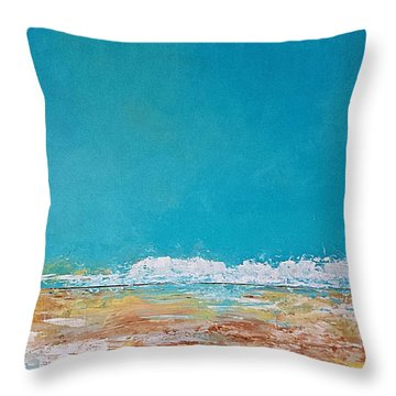 Throw Pillow featuring the painting Ocean 2 by Diana Bursztein