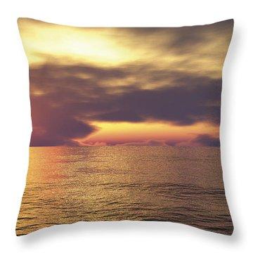 Throw Pillow featuring the digital art Ocean 2 by Mark Greenberg