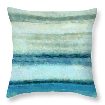 Ocean 4 Throw Pillow by Angelina Vick