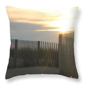 Ocean Access At Sunrise Throw Pillow by Robert Banach
