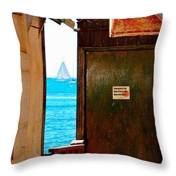 Ocean Alley Sliver - Maui - Hawaii Throw Pillow