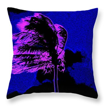 Throw Pillow featuring the painting Ocean Art 111 by David Mckinney