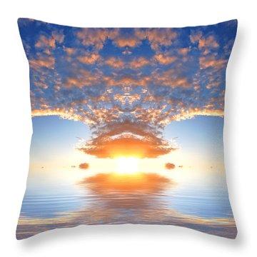 Ocean At Sunset Throw Pillow by Michal Bednarek