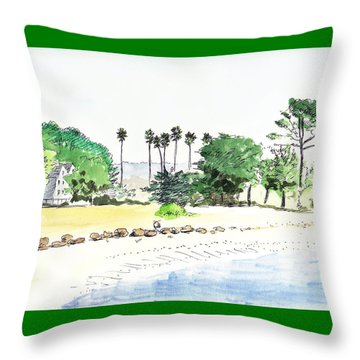Ocean Beach Throw Pillow