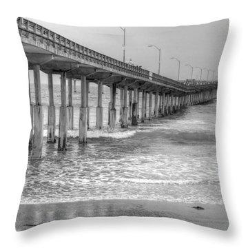 Ocean Beach Pier Throw Pillow