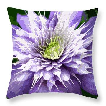 Ocean Bloom Throw Pillow by Sarah OToole