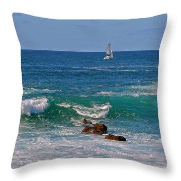 Ocean Breeze Throw Pillow by Kathleen Scanlan