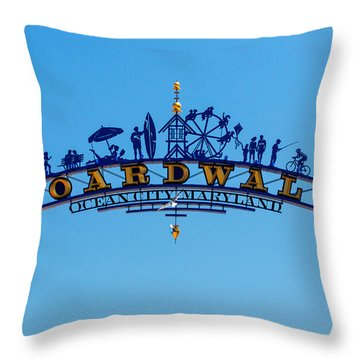 Ocean City Boardwalk Arch Throw Pillow