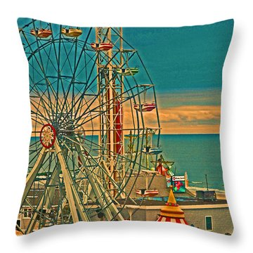 Ocean City Castaway Cove Ferris Wheel Throw Pillow