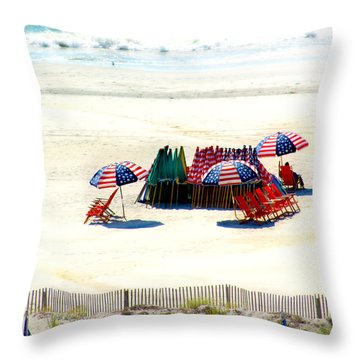 Ocean City Nj Stars And Stripes Throw Pillow