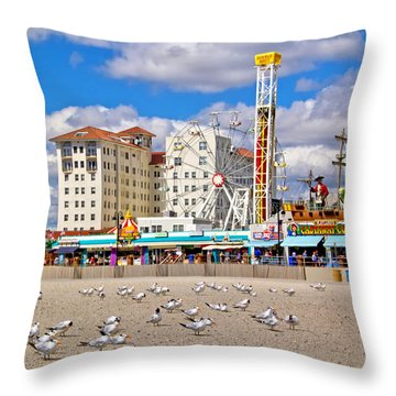 Ocean City View Throw Pillow