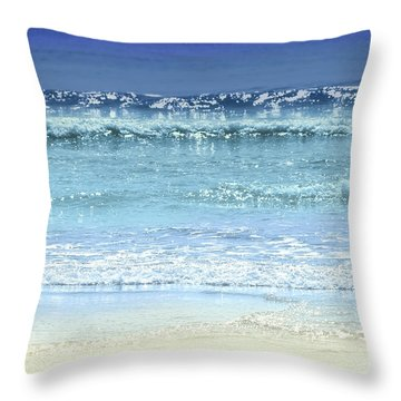 Ocean Colors Abstract Throw Pillow