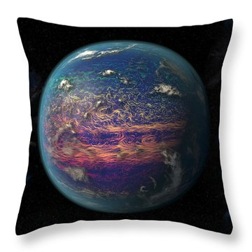 Earth Observation Throw Pillows