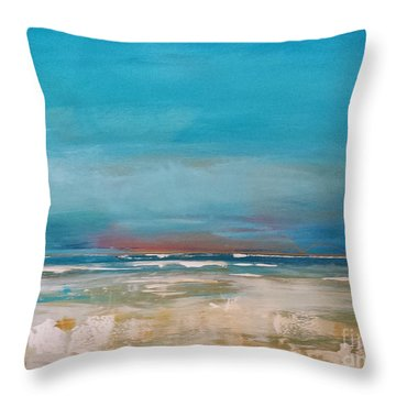 Throw Pillow featuring the painting Ocean by Diana Bursztein