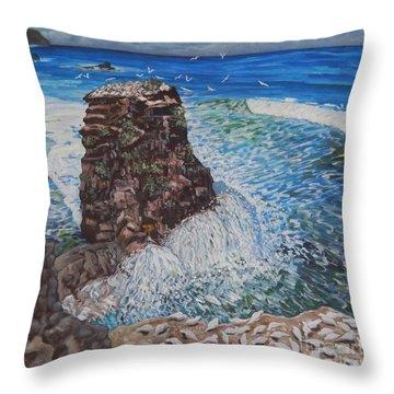 Ocean Dream Throw Pillow by Caroline Street