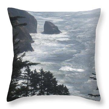 Ocean Drop Throw Pillow by Fiona Kennard