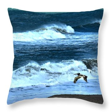 Ocean During A Storm Throw Pillow by Sandi OReilly