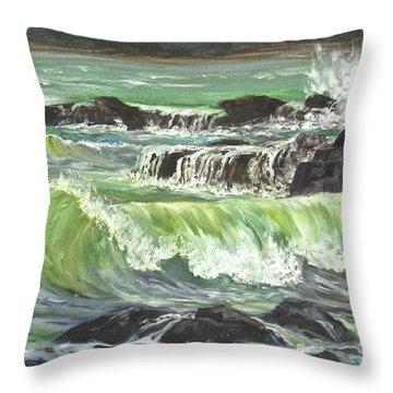 Ocean Emotion Lajolla Cove Throw Pillow