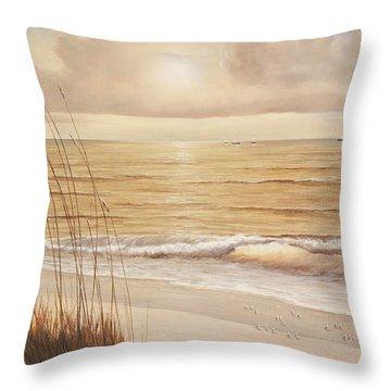 Ocean Glow Throw Pillow by Diane Romanello