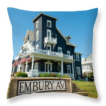 Ocean Grove B And B Throw Pillow