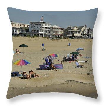 Ocean Grove Beach Throw Pillow