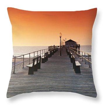 Ocean Grove Jetty In Nj Throw Pillow