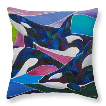 Ocean Gypsies Throw Pillow by Sherry Shipley