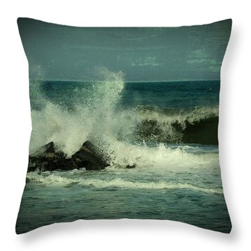 Ocean Impact - Jersey Shore Throw Pillow