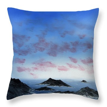 Ocean Islands Throw Pillow